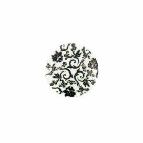 Nasturi din Metal cu Picior, Decorati cu Strasuri, 25 mm  (10 buc/pachet) Cod: N19329 Nasturi cu Picior TR3-1, Marimea 40 (100 buc/pachet)