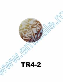 Nasturi Plastic cu Picior, Marime 28 Lin (100 bucati/pachet)Cod: PA52/28 Nasturi cu Picior TR4-2, Marimea 24 (100 buc/pachet)
