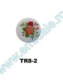 Nasturi cu Strasuri, 2cm(10 buc/pachet) Cod: BT0846 Nasturi cu Picior TR8-2, Marimea 36 (100 buc/pachet)