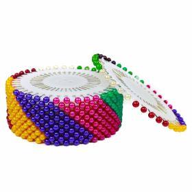 Bolduri cu Cap din Plastic, Albe, Asortate, Lungime 46 mm (36 rozete/cutie)  Bolduri cu Cap din Plastic, Colorate, Lungime 38 mm (36 rozete/cutie)