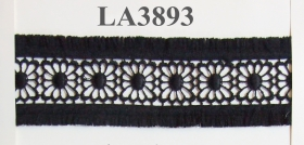 Dantela, latime 65 mm (13,72 m/rola)Cod: 0575-3060 Dantela cu Franjuri, latime 55 mm, Neagra (12.8 m/rola)Cod: LA3893
