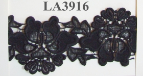 Dantela 0624-1086 (64 yards/rola) Negra Dantela (8.96 m/rola) Neagra