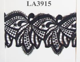 Pasmanterie LA2075  Neagra (10 m/rola) Dantela, latime 100 mm, Neagra (9.144 m/rola)Cod: LA3915