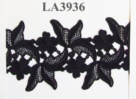 Dantela 1816 (10 m/rola) Dantela (9.144 metri/rola) Neagra