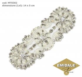 Aplicatii cu Cristale MT0335 Aplicatii cu Cristale, 14 x 5 cm (1 bucata/pachet)Cod: MT0302