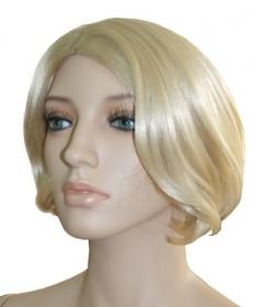 Prezentare Peruca Manechin Plastic, Culoare: Blond Cenusiu