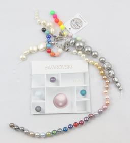 Cartela cu Suport Culori Cristale de Cusut Swarovski Elements Mostrar Culori, Marimi si Forme Perle Swarovski Elements