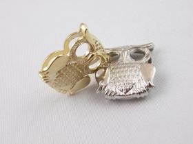 Ornament din Plastic, 22x20 mm, Argintiu (6 bucati/pachet) Accesorii Decorative din Metal, Bufnita, lungime 3 cm (10 bucatii/set)