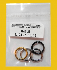 Lant Ornamental (10 m/rola) Culoare: Auriu  Metal Chain Ring (200 pcs/pack)