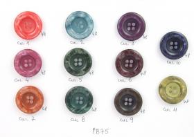 Nasturi Plastic  H1368/34 (100 bucati/pachet) Nasturi cu Patru Gauri 1875 (50 buc/punga)