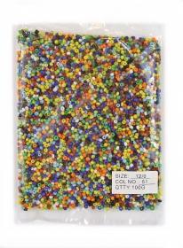 Margele sticla 100 gr Margele Sticla Multicolor (100 gr/punga)
