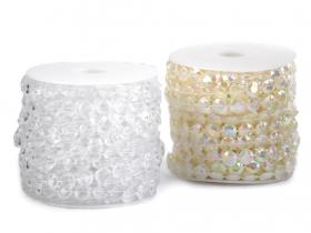 Perle Sirag 3mm, Albe (12 siraguri/pachet)  Perle Metraj 11mm (20 metri/rola) COD: 220908