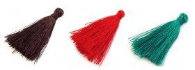 Ciucuri, lungime: 90 mm (10 bucati/pachet) Ciucuri Textili, lungime 4 cm (10 bucati/pachet)