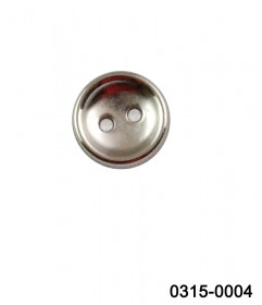 Nasturi Metalizati, cu Picior, din Plastic  25mm (100 bucati/pachet) Cod: 2123 Nasturi cu Doua Gauri 0315-0004/16 (200 bucati/punga)
