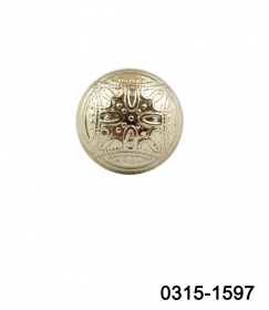 Nasturi cu Picior TR2, Marimea 24 (100 buc/pachet) Nasturi Plastic Metalizati cu Picior 0315-1597/16 (200 bucati/punga)