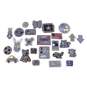 Embleme Termoadezive, Pisica (12 bucati/pachet)Cod: M4280 Embleme Termoadezive Reflectorizante (1 buc/model)Cod:390328
