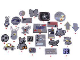 Embleme Termoadezive (12 bucati/pachet)Cod: M8276-2 Embleme Termoadezive Reflectorizante (10 buc/pachet)Cod:390328