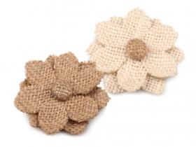 Trandafiri din Satin, diametru 5.5 cm (10 bucati/pachet)Cod: 390515 Aplicatii Flori de Cusut, diametru 6 cm (10 bucati/pachet)