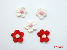 Aplicatii Textile Flower Sew-On Accesory, diameter 3 cm (12 pcs/pack)Code: FA1021