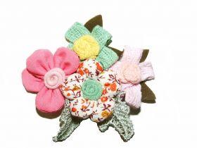 Flori din Dantela cu Cristale, diametru 9 cm (10 bucati/pachet)Cod: 180938 Aplicatii Vestimentare, lungime 8 cm (12 bucati/pachet)Cod: FA1013