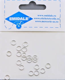Inele Metalice, 36 mm (10 buc/pachet)  Silver-Plated Simple Links, diameter 6 mm (20 pcs/pack)