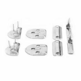 Mos si Baba Metalic, Argintii (144 bucati/punga)Cod: MB2 parti Mos si Baba, Argintii, 15 mm (144 bucati/punga)Cod: MB-4P-3P