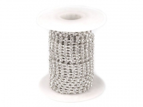 Margele Cubice, Mix Litere, 6 mm (1 punga)Cod: 200733 Lant cu Strasuri Metraj 220401 (9 metri/rola)