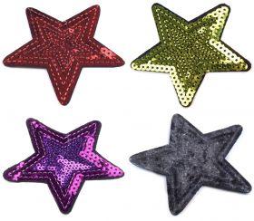 Embleme Termoadezive cu Paiete, Fluture (10 bucati/pachet) Cod: 400045 Embleme Termoadezive cu Paiete, Stea (10 bucati/pachet) Cod: 390350
