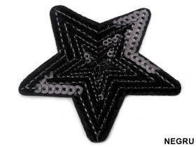 Embleme Termoadezive M30264 (25 bucati/pachet) Embleme Termoadezive cu Paiete (10 bucati/pachet) Model: Stea