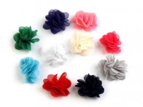 Aplicatii Textile Flori de Cusut si Lipit, diametru 30 mm (10 bucati/pachet)