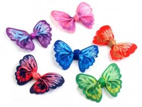 Flori din Dantela cu Cristale, diametru 9 cm (10 bucati/pachet)Cod: 180938 Aplicatii Textile de Cusut, 3D (10 bucati/pachet) Model: Fluture