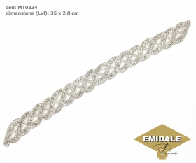 Aplicatii Vestimentare, lungime 21.5 cm (4 buc/pachet)Cod: ME0050 Aplicatii cu Cristale MT0334