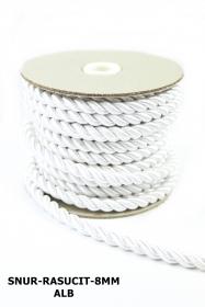 Snur Poliester cu fir metalic (131.674 m/rola) Snur Rasucit 8MM  (10 m/rola)