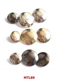 Nasturi cu Picior  S88, Marimea 16, Aurii (100 buc/pachet) Nasturi Metalici cu Picior MTL89