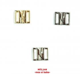 Reglor Sutien, 15 mm, Auriu, Negru, Argintiu (100 bucati/pachet)  Inchizatori Sutien, 12 mm (100 perechi/pachet) MTL 144