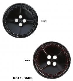 Nasture Plastic cu Picior 0311-0681/32 (100 bucati/punga) Nasturi cu Patru Gauri 0311-3605