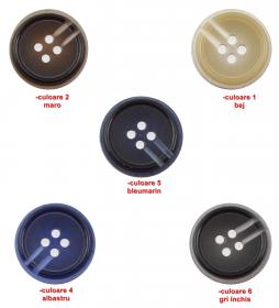 Nasturi cu Doua Gauri 0312-0334/40 (100 buc/punga) Culoare: Alb  Nasturi cu patru gauri 3021/40 (100 bucati/punga)
