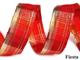 Banda Decorativa Poliester Radu 40 mm ( 100 metri/rola ) Panglică Decorativa cu Lurex si Intaritura de Sarma pe Margini, latime 25 mm (25 metri/rola) Cod 420800