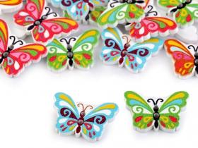 Nasturi cu 2 Gauri, 22.9 mm (50 bucati/punga) Cod: 12477 Nasturi Decorativi din Lemn (25 bucati/pachet) Model: Fluture