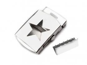Catarame Metalice Catarama si Terminatie pentru Curea, Latime 30mm (10 bucati/pachet) Cod: 730607