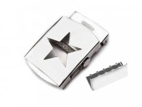 Catarama DCK053-40MM (100 bucati/punga) Nickel Catarama si Terminatie pentru Curea, Latime 30mm (10 bucati/pachet) Cod: 730607