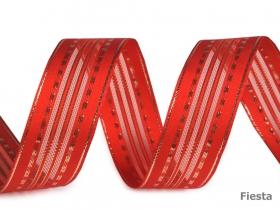 Banda Decorativa Bumbac, Herringbone, latime 10 mm (100 metri/rola) Panglica cu Lurex si Intaritura de Sarma pe Margini, latime 25 mm (25 metri/rola) Cod: 430286