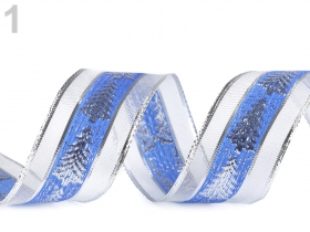 Banda Decorativa Poliester Radu 10 mm ( 100 metri/rola ) Panglica cu Lurex si Intaritura de Sarma pe Margini (18 metri/rola) Cod: 430292
