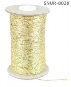 Snur Poliester cu fir metalic (131.674 m/rola) Snur Bumbac si Fir Metalic (200 metri/rola) Cod: 8039