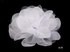 Aplicatie Brodata, lungime 29 cm (6 buc/pachet) Cod: 11644 Flori din Sifon, diametru 8 cm (10 bucati/pachet)