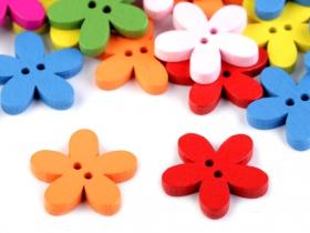 Nasturi Decorativi din Lemn Nasturi Decorativi din Lemn (25 bucati/pachet) Model: Floare