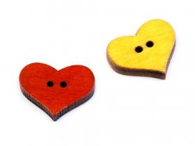 Nasturi Decorativi din Lemn Nasturi Decorativi din Lemn (25 bucati/pachet) Model: Inima