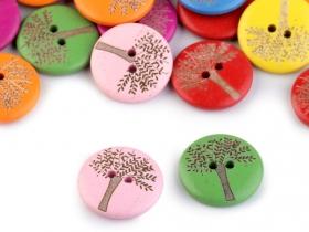 Nasturi Decorativi din Lemn Nasturi Decorativi din Lemn (25 bucati/pachet) Model: Arbore