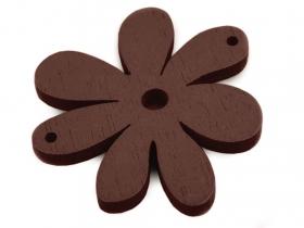 Aplicatie Vestimentara ( 6 bucati/pachet )  Floare din Lemn, 35 x 40 mm (25 bucati/pachet)