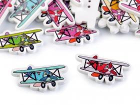 Nasturi Decorativi din Lemn Nasturi Decorativi din Lemn (25 bucati/pachet) Model: Avion